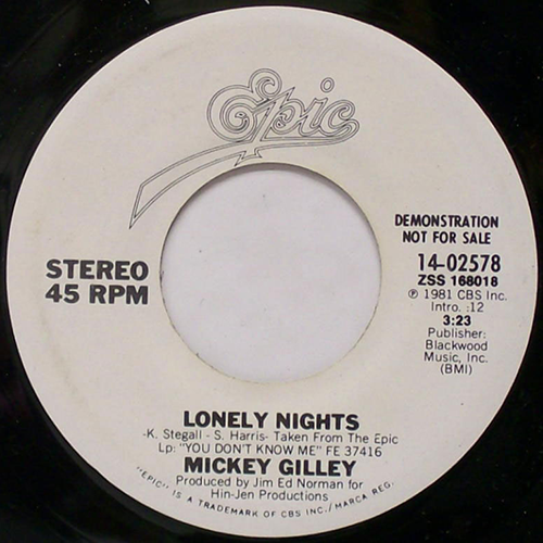 Lonely Nights - Mickey Gilley